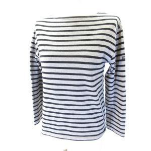 セントジェームス SAINT JAMES Tシャツ カットソー バスクシャツ 長袖 灰色 黒 グレー ブラック XS レディース【中古】【ベクトル 古着】|vectorpremium