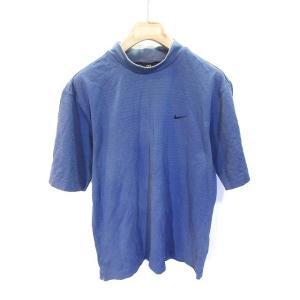 ナイキゴルフ NIKE GOLF Tシャツ カットソー 半袖 鹿の子 ゴルフ ウェア 紺 ネイビー ...
