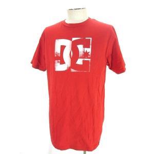 ディーシーシューズ DC SHOES Tシャツ カットソー 半袖 クルーネック ロゴ プリント L レッド 赤 メンズ 【中古】【ベクトル 古着】|vectorpremium