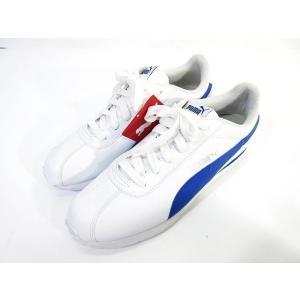 未使用品 プーマ PUMA Turin チューリン スニーカー 靴 シューズ 白 青 ホワイト ブル...