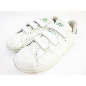 【中古】アディダスオリジナルス adidas originals スタンスミス ベルクロ スニーカー シューズ ホワイト グリーン 25.5 US古着 メンズ 【ベクトル 古着】|vectorpremium