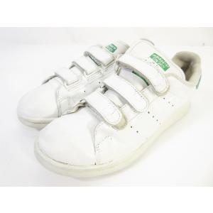 【中古】アディダスオリジナルス adidas originals スタンスミス ベルクロ スニーカー シューズ ホワイト グリーン 25 US古着 メンズ 【ベクトル 古着】|vectorpremium