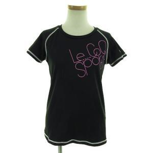 ルコックスポルティフ Le coq sportif Tシャツ 半袖 丸首 速乾 ブラック 黒 M レ...
