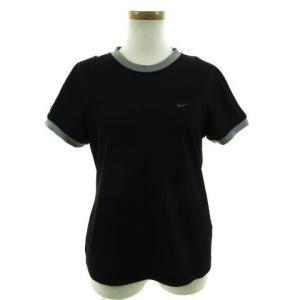 ナイキ NIKE Tシャツ 半袖 丸首 速乾 トレーニングウェア ブラック 黒 グレー レディース ...