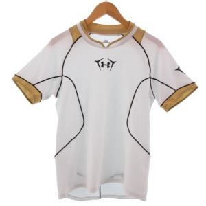 アンダーアーマー UNDER ARMOUR Tシャツ 半袖 速乾 ホワイト 白 ゴールド M メンズ...