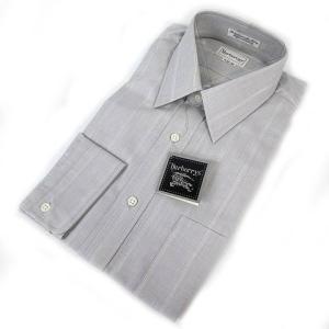 【中古】未使用品 バーバリーズ Burberrys シャツ ワイシャツ 長袖 コットン ストライプ ...