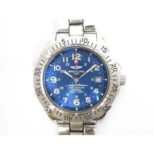 ブライトリング BREITLING 腕時計 スーパーオーシャン ウォッチ A17360 自動巻き ブルー シルバー メンズ メンズ【中古】【ベクトル 古着】 vectorpremium