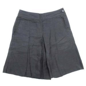 ロデオ RODEO リネン混 タック キュロット スカート パンツ 38 ブラック レディース/6 レディース 【中古】【ベクトル 古着】|vectorpremium