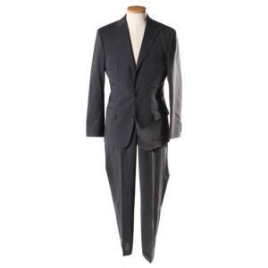 ヒューゴボス HUGO BOSS スーツ ジャケット パンツ ストライプ 44 紺 ネイビー /☆o...