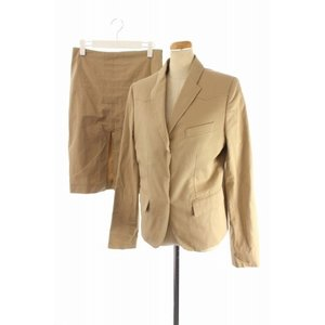 61b5180fb101 グッチ GUCCI セットアップ 上下 スーツ ジャケット スカート 42 ベージュ /HK レディース【中古】【ベクトル 古着】