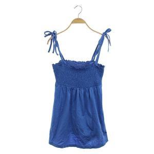 バーバリーブルーレーベル BURBERRY BLUE LABEL キャミソール シャーリング 38 ...