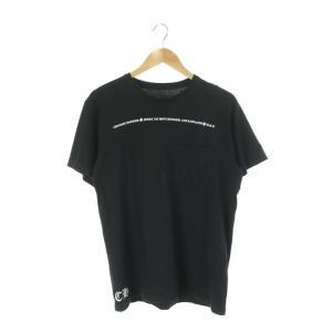 クロムハーツ CHROME HEARTS Tシャツ カットソー ロゴ 半袖 M 黒 /DF ■OS メンズ 【中古】【ベクトル 古着】 vectorpremium