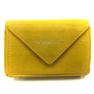バレンシアガ BALENCIAGA 財布 三つ折り ミニ ペーパーミニウォレット 391446 黄色 /YI40 レディース 【中古】【ベクトル 古着】|vectorpremium