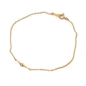 【中古】アガット agete ブレスレット K18 ダイヤモンド 0.04ct イエローゴールド /...
