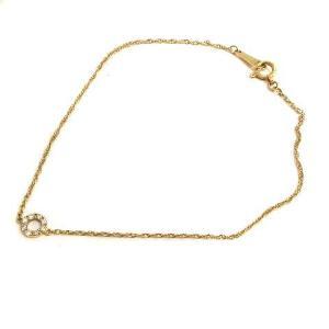 【中古】アガット agete ブレスレット ダイヤモンド 0.05ct K18 ゴールド /YO5 ...