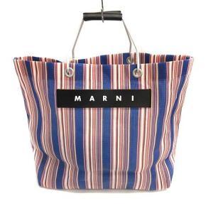 【中古】マルニ MARNI バッグ トート ハンド FLOWER CAFE フラワーカフェ ストライ...