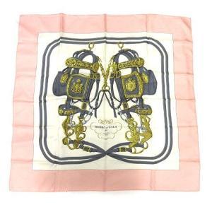 【中古】エルメス HERMES スカーフ カレ90 BRIDES de GALA 式典用馬勒 シルク...