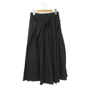 【中古】アンスリード UN3D. ORIGAMI TACKスカート ロング 38 黒 /AA ■OS...