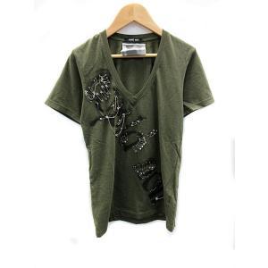 costa noir コスタノアール costa noir Tシャツ Vネック 半袖 カーキ /AH...