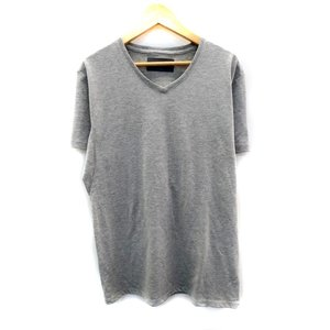 ダブルジェイケイ wjk カットソー Tシャツ Vネック 半袖 M グレー /YH2 レディース【中...