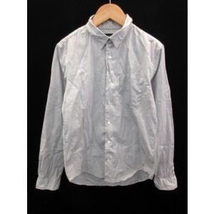 ハレ HARE Yシャツ ワイシャツ スタンダードカラー 長袖 M ライトグレー /NS42 メンズ...