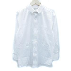 ダーバン DURBAN ワイシャツ Yシャツ 長袖 ボタンダウン 無地 大きいサイズ 43-84 白...