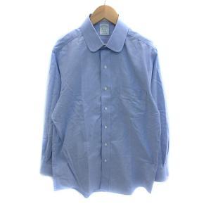 【中古】ブルックスブラザーズ BROOKS BROTHERS Yシャツ ワイシャツ ラウンドカラー ...