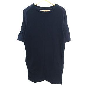 【中古】シェアパーク SHARE PARK ワンピース Tシャツ ミニ ラウンドネック 半袖 無地 ...