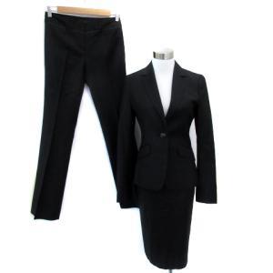 【中古】iCB スーツ 3点セット セットアップ 上下 ジャケット テーラード スカート パンツ ウール 上38 下7 黒 ブラック /SM41 レディース 【ベクトル 古着】|vectorpremium