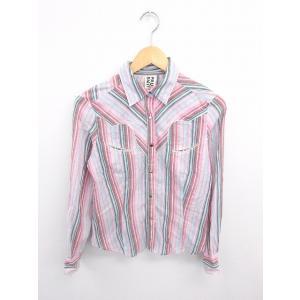 ポールスミス ピンク paul smith PINK シャツ ブラウス ストライプ スナップボタン 綿 長袖 40 赤 桃 レッド ピンク /TT16 レディース【中古】【ベクトル 古着】|vectorpremium
