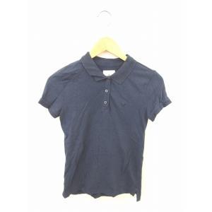 アメリカンイーグルアウトフィッターズ シャツ ポロシャツ 刺繍 ワンポイント 半袖 S 紺 ネイビー...