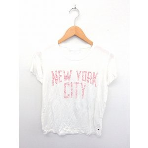 fourth of july by JF カットソー Tシャツ 丸首 英字 プリント 白 レディース...