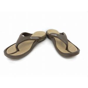 クロックス crocs 靴 シューズ サンダル トング ビーチサンダル フリップフロップ M9 茶 ブラウン /ST2 メンズ【中古】【ベクトル 古着】|vectorpremium