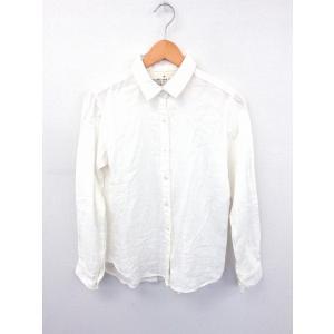 無印良品 良品計画 シャツ ブラウス 無地 シンプル 長袖 コットン 綿 M ホワイト 白 /FT1...
