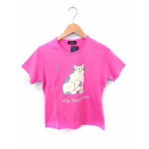 未使用品 ジムトンプソン JIM THOMPSON タグ付き Tシャツ カットソー プリント ロゴ ...