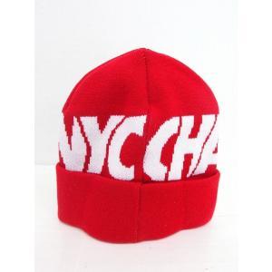 【中古】チャリアンドコー CHARI&CO 帽子 ニット帽 ニットキャップ ロゴ レッド 赤 /KT...