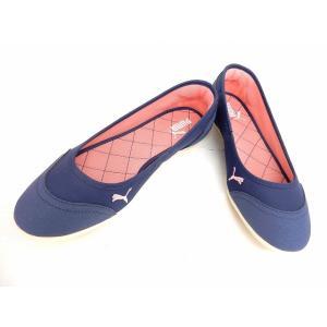 【中古】プーマ PUMA 靴 シューズ フラットシューズ スリッポン ブルー 24.5 /ST60 レディース 【ベクトル 古着】|vectorpremium