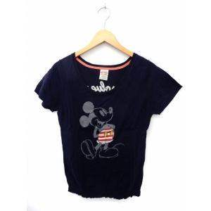 【中古】リダーク RE DARK ニット セーター 半袖 ミッキーマウス リブ袖 バック刺繍 M ネ...