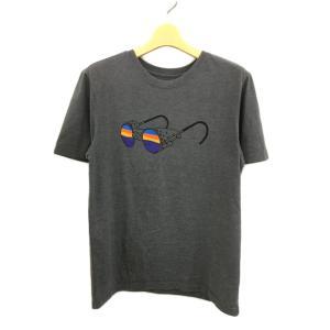 【中古】パタゴニア Patagonia Tシャツ クルーネック プリント 半袖 XS グレー メンズ...