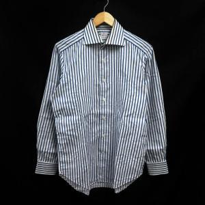トゥルッツィ TRUZZI ワイシャツ Yシャツ 長袖 ストライプ 39 青 /MF メンズ【中古】...