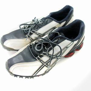 アシックス asics シューズ ゴルフ ゲルエース レザー TGN101 靴 28 白 /NM メンズ 【中古】【ベクトル 古着】|vectorpremium
