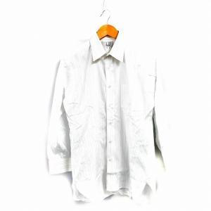 ダンヒル dunhill ワイシャツ Yシャツ 長袖 ストライプ S 白 /NK メンズ 【中古】【...