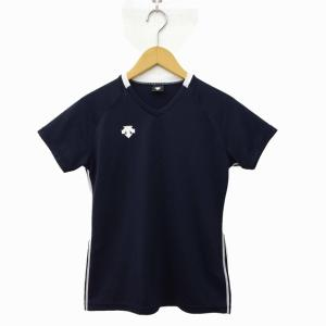 デサント DESCENTE Tシャツ プラクティス 半袖 スポーツ ウエア M 紺 ネイビー ☆K☆...