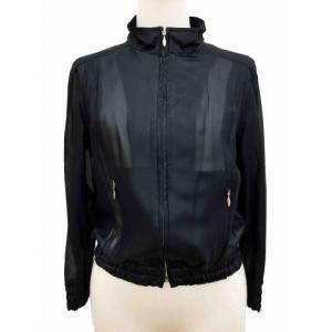 ベージュショップ BEIGE SHOP ジャケット スタンドカラー 七分袖 40 黒 ブラック /AF55 レディース【中古】【ベクトル 古着】|vectorpremium