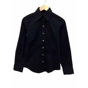 アイシービー iCB ワイシャツ ドレス 長袖 9 黒 ブラック /AN55 レディース【中古】【ベ...