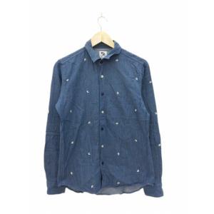 a05dfcafd99e1 アーノルドパーマー Arnold Palmer シャツ カジュアル 刺繍 長袖 2 青 ブルー  F..