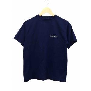 モンベル Montbell Tシャツ カットソー クルーネック メッシュ 半袖 XXS 紺 ネイビー /AF3 メンズ 【中古】【ベクトル 古着】|vectorpremium