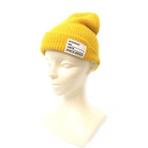 10f018ce52de98 チャオパニック CIAOPANIC 帽子 ニット帽 ニットキャップ ワンポイント 黄色 イエロー /AY15 レディース【中古】【ベクトル 古着】