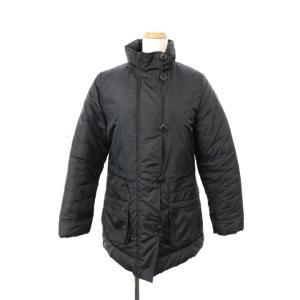 エーグル AIGLE ジャケット ジャンパー ロング スタンドカラー ジップアップ 中綿 S 黒 ブ...