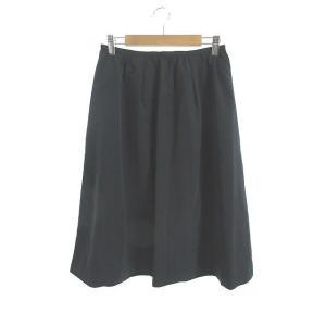 シェアパーク SHARE PARK スカート ギャザー ロング ミモレ 0 紺 ネイビー /NN29...